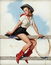 "Retro Gil Elvgren Pinup Girl Poster 17x13"" Decor 15"