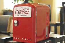 Coca-Cola Mini Fridge Cooler Retro Personal Fridge Koolatron Model KWC-4