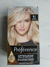 hair dye blonde loreal preference OSLO 9.1 VIKING ASH LIGHT BLONDE