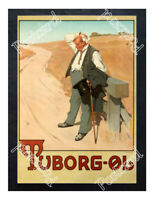 Historic Tuborg Beer, 1900 Advertising Postcard