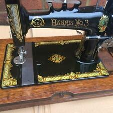 Antique Harris No 3 hand crank sewing machine