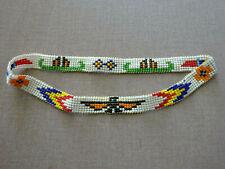 VINTAGE NATIVE AMERICAN HAND BEADED HEAD BAND, THUNDERBIRD, CANOES