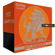Pokemon Sun & Moon Elite Trainer Box - Solgaleo - Booster Packs + Energy Cards