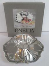 "NIB Oneida Chippendale Chip & Dip or Shrimp Server 11"" Silverplate Vintage 1987"