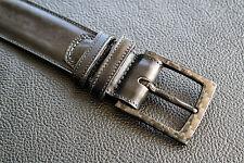 2BELT -Men belt with carbon fiber buckle & black leather belt - AIRPORT FRIENDLY