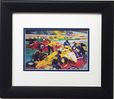 "LeRoy Neiman ""Indy Time Trials"" CUSTOM FRAMED Print Indianapolis 500 Racing"
