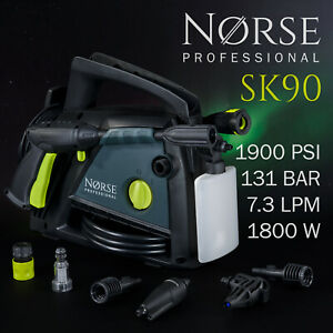 NORSE Professional - Portable Electric High Power Pressure washer 1900psi - SK90