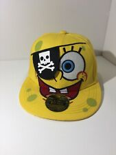 """Spongebob Squarepants Pirate Themed Hat With Eyepatch! Size Fitted S/M About 5"""""""