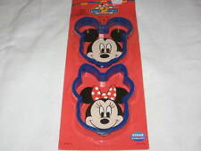 WALT DISNEY MICKEY MOUSE MINNIE MOUSE SET OF 2 COOKIE CUTTERS STILL SEALED PARTY