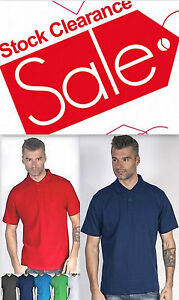 Mens Polo Shirt Geffer Plain -High Quality-Black, Navy, Blue, Red, Green, White