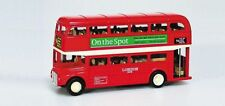 Modellauto London Bus Doppeldecker rot Metall