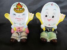 Vintage PY Plate Fork Spoon Boys Anthropomorphic Salt & Pepper Shaker Set, Japan
