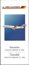 Aero California system timetable 2/16/96 [7072]