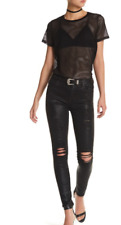 7 For All Mankind Coated Ankle Skinny Jeans COATED DENIM 2 Sz 29 100% Authentic