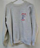METALLICA 1988-'89 DORIS DOES THE WORLD Tour Embroidered Crew Sweat Shirt