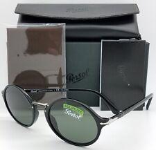 NEW PERSOL sunglasses PO3208S 95/58 53 Black Polarized 3173 AUTHENTIC Round