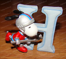 Letter H (Peanuts Alphabet by Wesland, 8578) Snoopy Playing Hocky