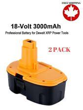 Biswaye 2Pack 18V High Capacity 3000mAh Replacement Battery for 18-Volt Dewalt B