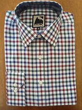 EQUESTRIAN BLUE/RED/GREEN/WHITE  L/S CHECK SHIRT by ROK    SIZE 20    BRAND NEW