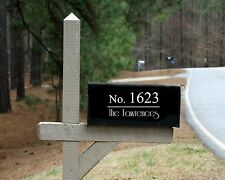 Mailbox Number and Family Name Vinyl Decal Home Address House DIY
