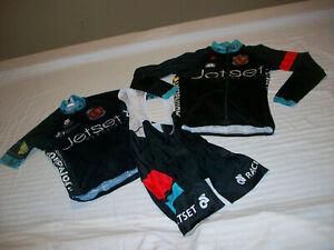 JETSET CYCLING BICYCLE JERSEY/BIB SHORTS MENS XS ROAD/MOUNTAIN BIKE JERSEY NICE!