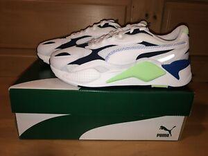 Puma Men's RS-X3 Millenium 373236-03 White Blue Green Running Shoes Size 9