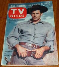 1959 TV GUIDE COVER'S ONLY~CLINT WALKER is CHEYENNE BODIE WESTERN SERIES~COVER'S