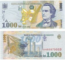 Romania 1000 Lei 1998 P-106 NEUF UNC Uncirculated Banknote