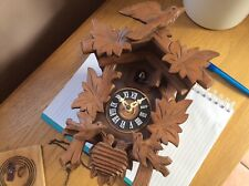 Vintage German Cuckoo Clock Carved Wood REGULA 2 birds at base also work cuckoo