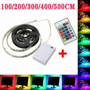 LED Strip Light Battery Powered Operated 5050 RGB Color Changing Tape Lighting