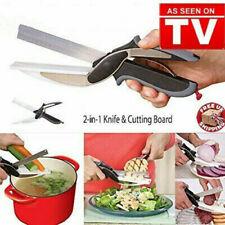 Clever Cutter 2-in-1 Knife & Cutting Board Scissors Chop/Slicer/Pizza Cutter