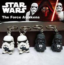 2pcs/Set Star Wars JEDI Knight stormtrooper Darth Vader Figure Keyring Keychain