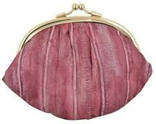 NEW WATERPROOF EEL SKIN LARGE DOUBLE COIN CHANGE PURSE WALLET