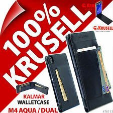 Krusell Kalmar WalletCase Wallet Case Folder Flip for Sony Xperia M4 Aqua / Dual