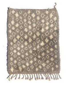 "moroccan berber rug Beni Ourain Small Area Rug 2'6""x4'"