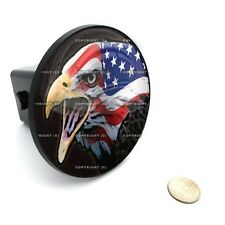 """2"""" Tow Hitch Receiver Cover Insert Plug for Most Truck & SUV - USA FLAG EAGLE L"""
