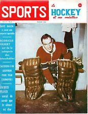 1964 (Feb.) Sports Le Hockey Magazine, Charlie Hodge, Montreal Canadiens ~ Gd