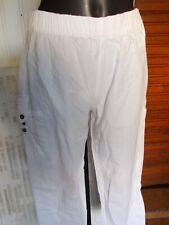 Pantalon court pantacourt coton taille elastique BLANC DU NIL T.2 38/40 17ETJ28