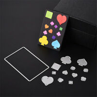 Poker Playing Cards Cutting Dies Stencils DIY Scrapbook Album CardMakingCraft SP