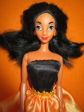 B560) vieux Disney Barbie Jasmin Mattel Orange-Robe noire + originaux Boucles d'oreilles
