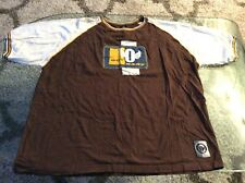 Outkast Clothing Co Est. 3000 Sewn-On Patch Brown Shirt Adult 2X-Large 2Xl Xxl