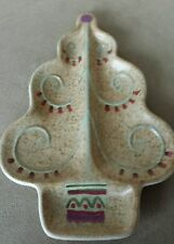 Pfaltzgraff Holiday Spice Tidbit Candy Divided Dish Accent Piece Tree Shaped