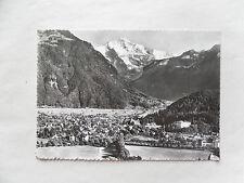 c1965/ 60s B/W Postcard. Interlaken and Jungfrau,  Switzerland