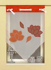 Scheibengardine Kuvert Kurzgardine Vorhangspitze 2162 11 60x90 cm Orange Rot