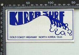 VINTAGE KIRRA SURF AUSTRALIA SOUVENIR SURF WEAR SURFBOARD SHOP PROMO STICKER