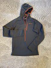 PATAGONIA Men's R1 Regulator Grid Fleece Hoody Pullover 1/2 Zip Sz SM Gray