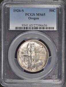 OREGON 1926-S 50C Silver Commemorative PCGS MS65