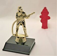FIREMAN TROPHY ON BLACK BASE PERSONALIZED