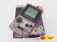 Nintendo GameBoy Color Colour Game Boy Handheld Atomic Purple Boxed GBC Boxed AU