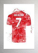 Kenny Dalglish - Liverpool Football Shirt Art - Splash Effect - A4 Size
